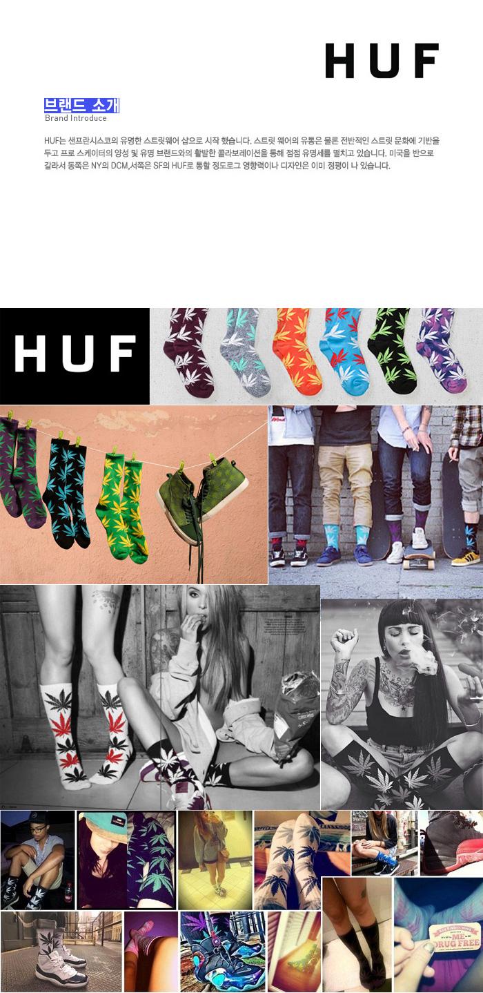 Bright Aqua Huf Melange Plantlife Socks